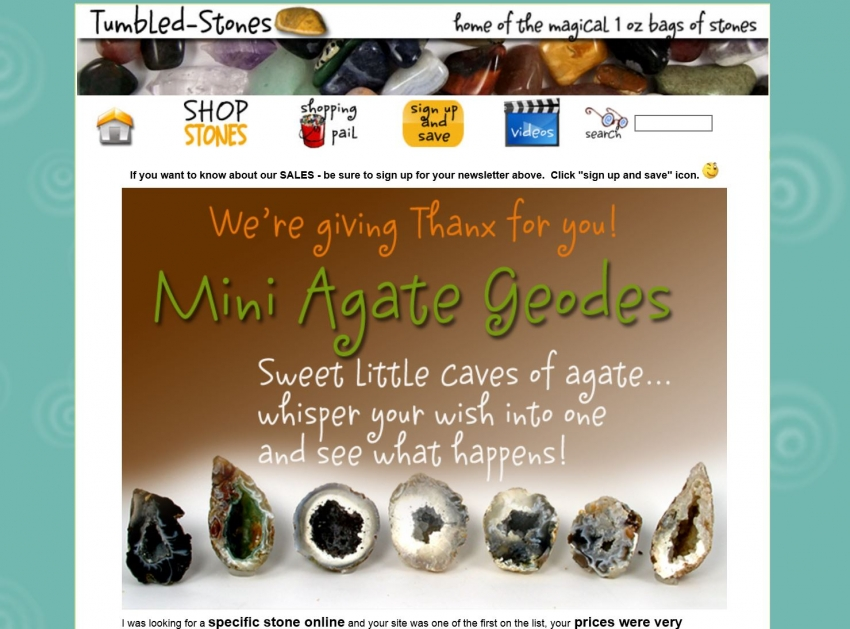 OLD tumbled-stones.com home page