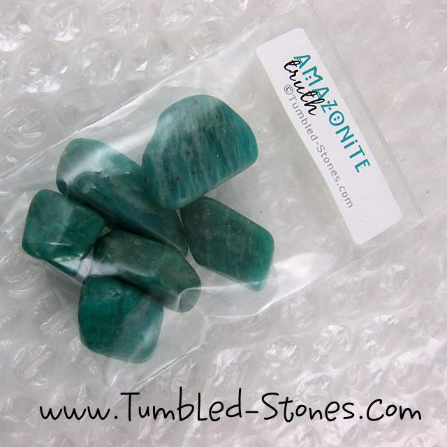 amazonite tumbled stones