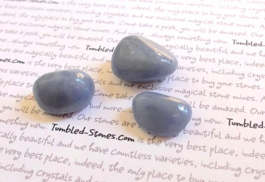 angelite tumbled stones