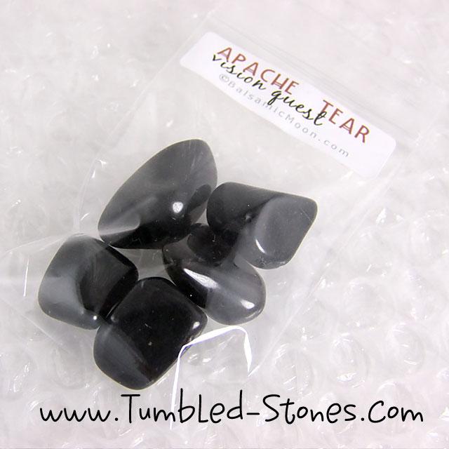 apache tear tumbled stones