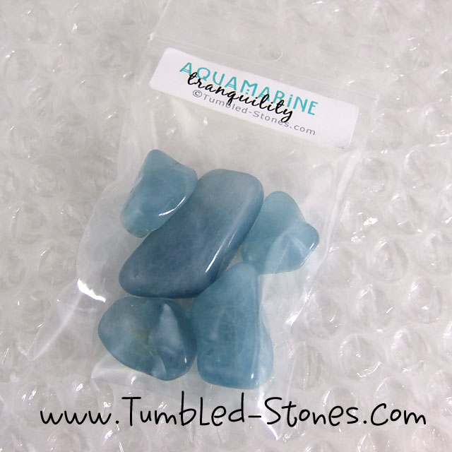 aquamarine tumbled stones