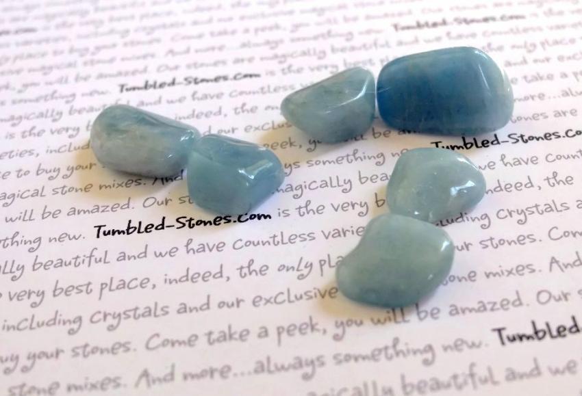 aquamarine beryl tumbled stones