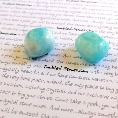 aragonite blue tumbled stones