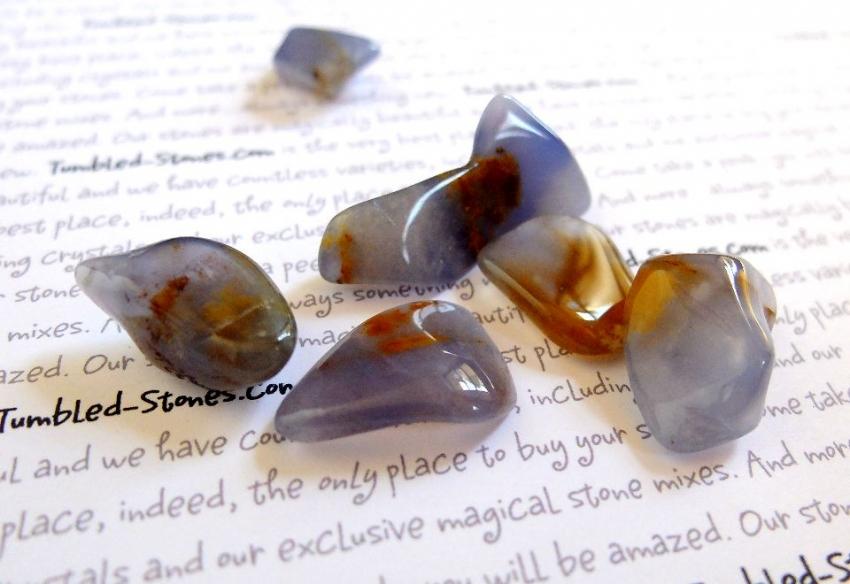 blue chalcedony tumbled stones
