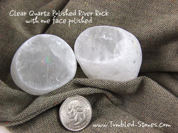 Clear Quartz River Bed Rock - cut face to gaze inside