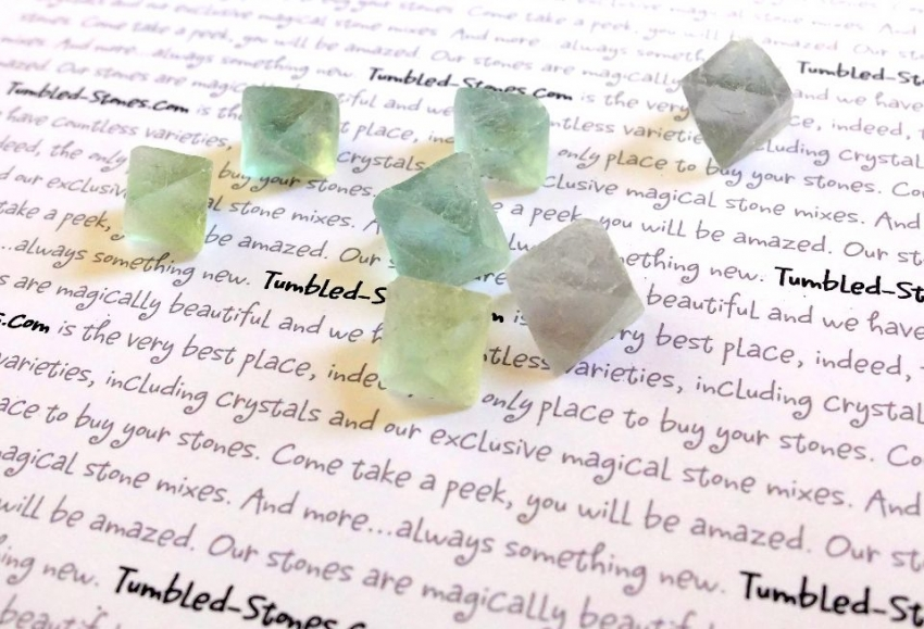flourite octahedron stones
