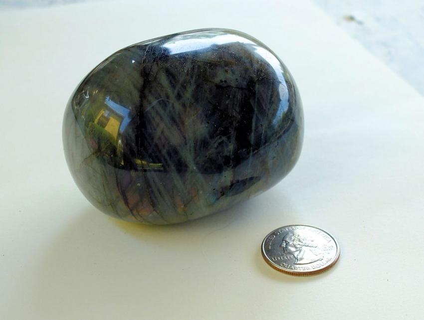 giant labradorite tumbled stone