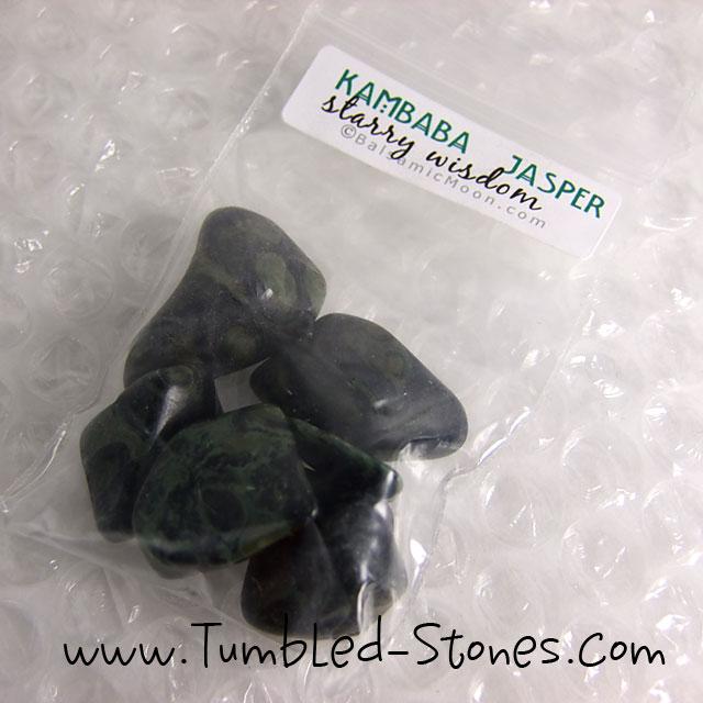 kambaba jasper tumbled stones in bag
