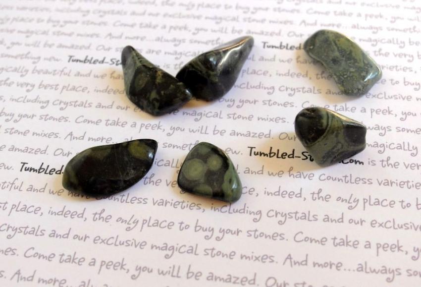 kambaba jasper tumbled stones