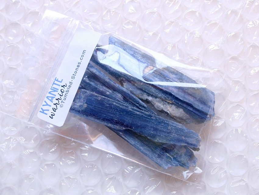kyanite swords in bag