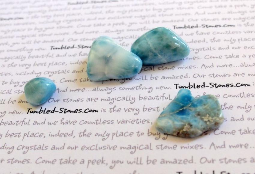 larimar tumbled stones