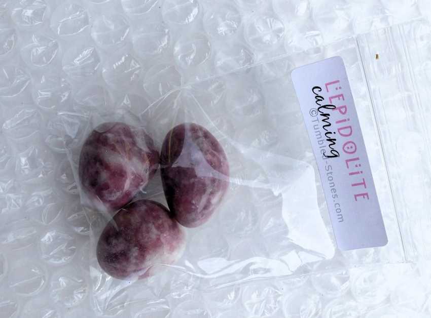 lepidolite in bag