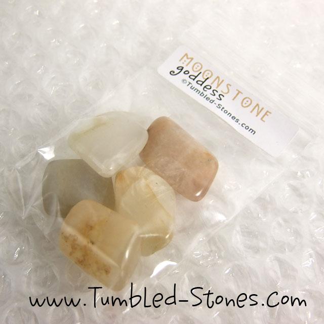 moonstone tumbled stones