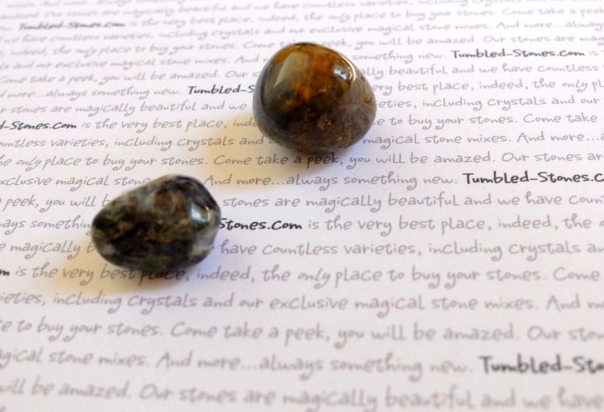 Pietersite tumbled stones