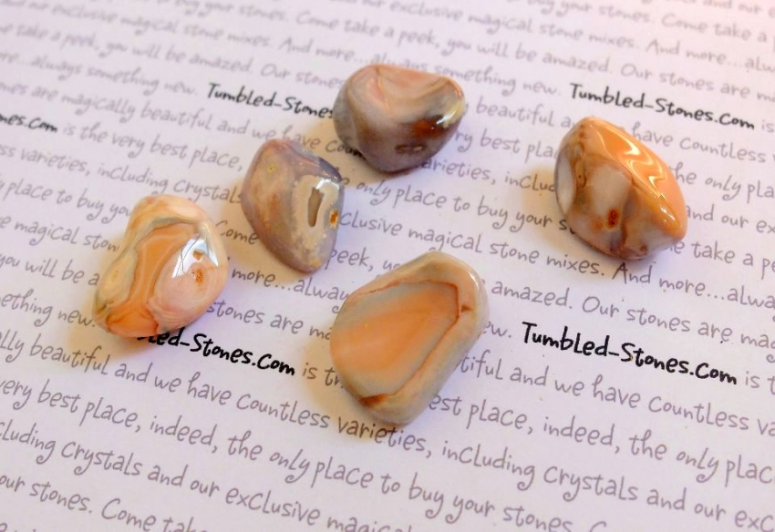 pink agate tumbled stones