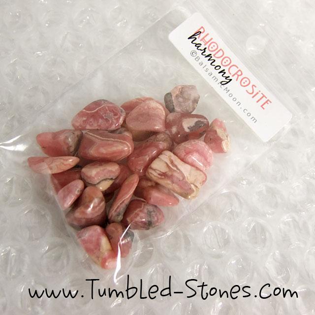 rhodocrosite tumbled stones