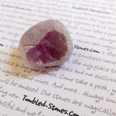 polished amethyst river rock