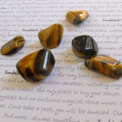 tiger eye tumbled stones