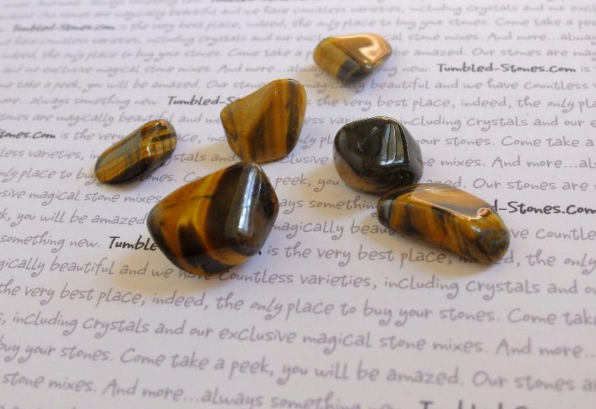tiger eye tumbled stones