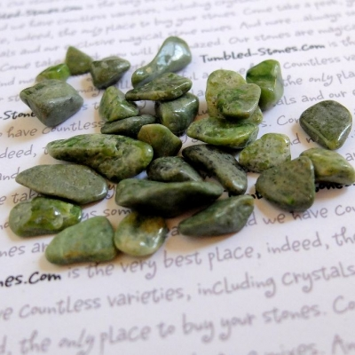 Vesuvianite tumbled stones