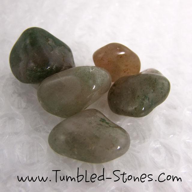 Watermelon quartz tumbled stones