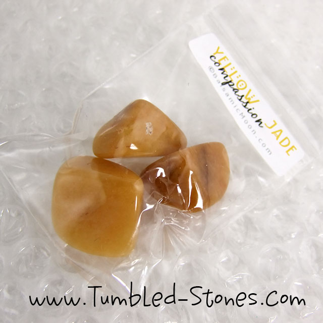 yellow jade tumbled stones