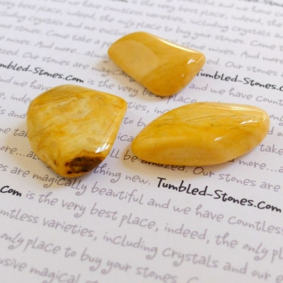 Yellow Jasper tumbled stones